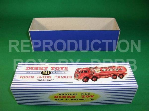 Dinky #941 Foden 14T Tanker - 'Mobilgas' - Reproduction Box